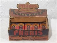 Pharis Spark Plugs store display with L.D Cole,