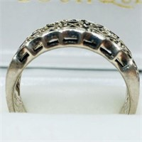 Silver Marcasite  Ring (~weight 5.6g) (154 -