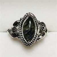 Silver Labradorite  Ring (156 - JP415)   (D3)