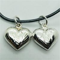 Silver Heart Shaped Pendant (162 - JP415)   (D3)