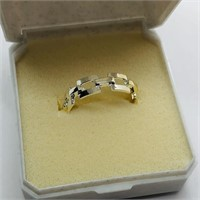 Two toned Silver  Ring (167 - JP415)   (D3)