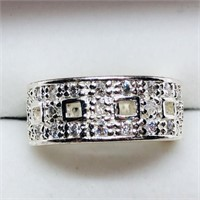 Silver Cubic Zirconia  Ring (~weight 5.8g) (171 -