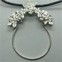 Silver W/ Fashion Chord Pendant (172 - JP415)