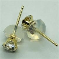 14K Yellow Gold Cubic Zirconia  Earrings (188 -