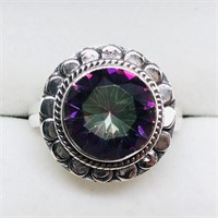 Silver Mystic Topaz  Ring (~weight 4.1g) (189 -