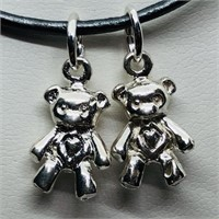 Silver Teddy  Bear Shaped Pendant (197 - JP415)