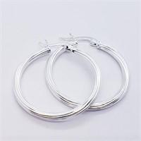 Silver Hoop Earrings (5G)  Earrings (208 - JT79)