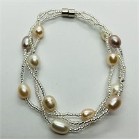 Fresh Water Pearl Bracelet And Necklace   Set