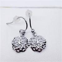 Silver Dangle  Earrings (216 - JT79)   (D2)