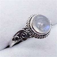 Silver Moonstone (3G)  Ring (214 - JT79)   (D2)