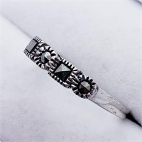 Silver Marcasite  Ring (222 - JT79)   (D2)