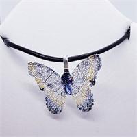 Butterfly Pendant  Necklace (221 - JT79)   (D2)