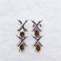 Gold Plated Silver  Earrings (226 - JT79)   (D2)