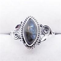 Silver Labradorite  Ring (228 - JT79)   (D2)