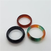 Pack Of 3 Eternity Style Agate   Ring (231 -