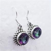 Silver Mystic Topaz   Earrings (232 - JT79)