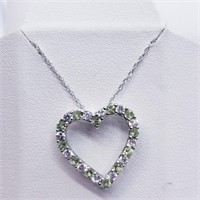 Silver Peridot  Necklace (233 - JT79)   (D2)