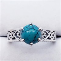 Silver Turquoise  Ring (234 - JT79)   (D2)