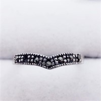 Silver Marcasite  Ring (237 - JT79)   (D2)