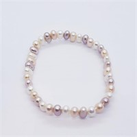 Silver Flexible Pearl  Bracelet (241 - JT79)