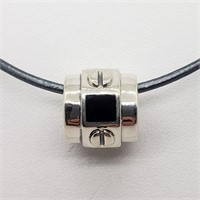 Silver Bead With Cord  Necklace (244 - JT79)