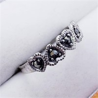 Silver Marcasite  Ring (246 - JT79)   (D2)