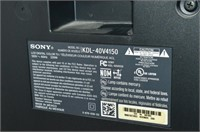 "Sony Bravia 40"" LCD TV with Remote"