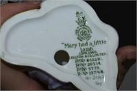 "Royal Doulton ""Mary Had a Little Lamb"" HN2048"