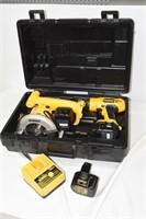DeWalt 12V Cordless Drill & Circular Saw
