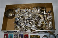 Box of Collector Spoons, Napkin Rings, etc.