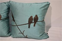 Pair of Feather Filled Décor Pillows