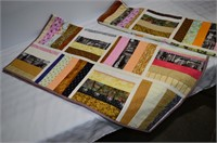 "Pair of Handmade Quilts each 40"" x 40"""