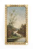JP Initialed, Early 20th Century Oil Landscape