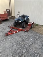 6ft utility trailer with bayou 220 four wheeler