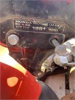 Honda 1981 ptc 110 3 wheeler frame and engine