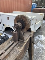 Homemade wooden lathe aprox. 16ft long