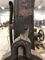 Antique Heavy Equipment Engine Hoist.
