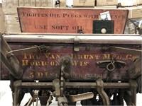 Early John Deere Van Brunt Mfg 5 Disc Fertilizer