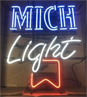 Advertisment Mich light neon sign
