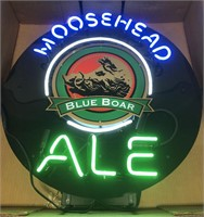 Advertisment Moosehead Blue Boar Ale neon sign