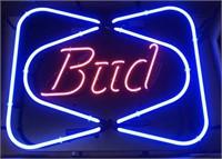 Advertisement Bud neon sign