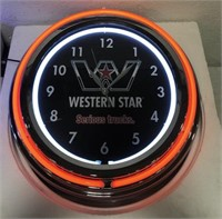 Advertisement Western Star neon clock
