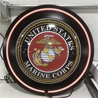 Advertisement United States Marine Corps neon