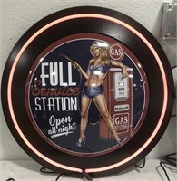 Advertisement Full Service Station neon sign