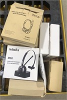 Lot of miscellaneous wireless headsets