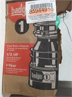 Badger 1 food waste disposer 1/3 HP