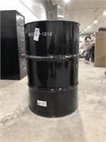 55gl blk/white unlined drum