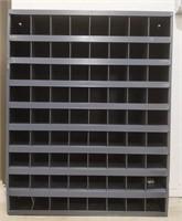 Parts bin with 72 slots