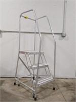 Cotterman 3-Step Rolling Ladder, Expanded Metal