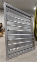 Motorized Damper, Extruded Aluminum, 5 panels.,